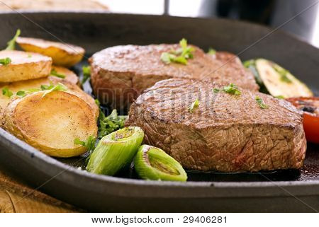 Steak with Vegetable