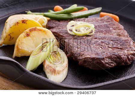 Beefsteak in Pan