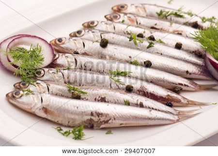 Anchovy with herbs
