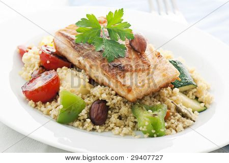 Kuskus with Salmon
