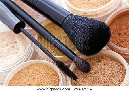 mineral make up with brushes