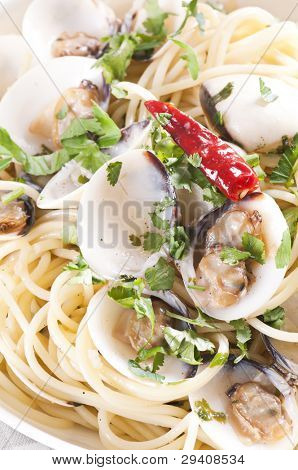 Spaghetti Vongole with Chilli