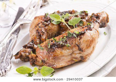 Chicken legs with herbs