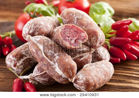 Italian air-dried salami