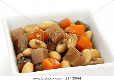 gomoku-nimame, cooked soy beans and vegetables, japanese food