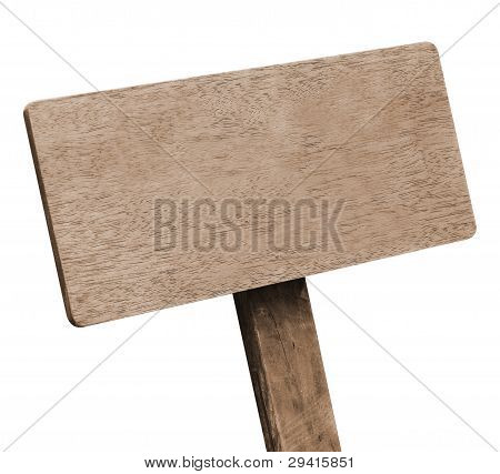 Brown wooden signboard