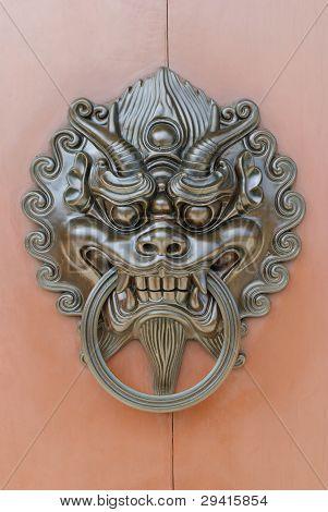 Chinese lion door knob