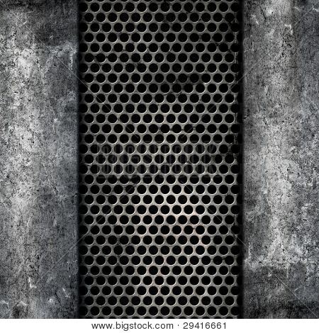 Grunge style background of metal and concrete