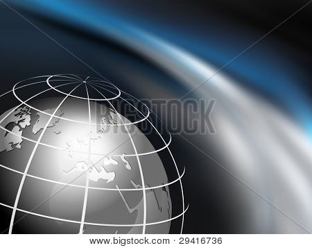 Outer space with globe - planet earth - universe