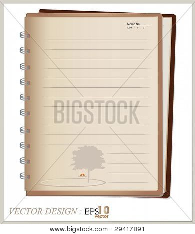 Vector design: Vintage book. All elements are layered separately in vector file. Easy editable.