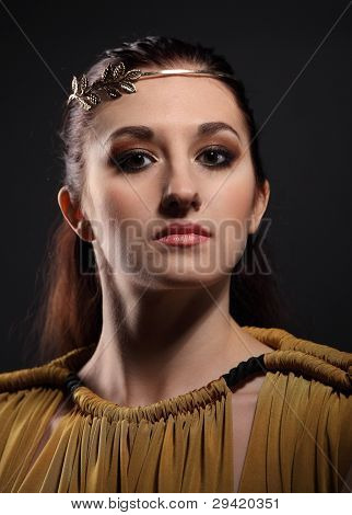 Portrait Of The Beauty Young Brunette Woman