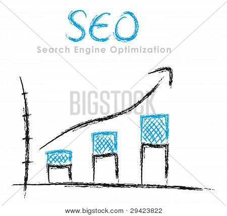Hand-drawn Seo Graph