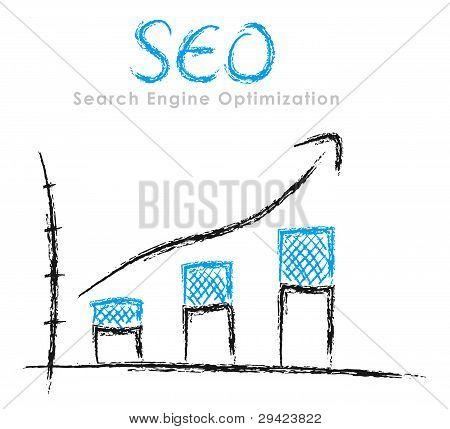 Hand-drawn Seo Graph
