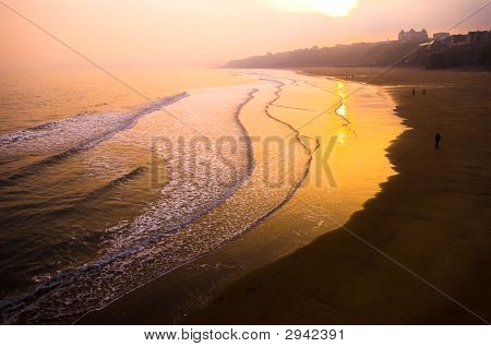 Sunset Over Beach