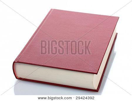 Libro rojo grande aislado en blanco