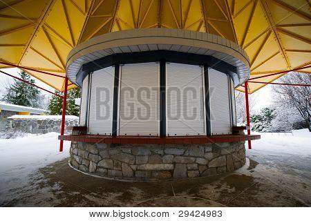 Closed Small Circular Kiosk