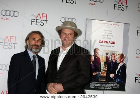 LOS ANGELES - NOV 5:  Christoph Waltz; John C. Reilly. arrives at the AFI FEST 2011 Gala Screening of
