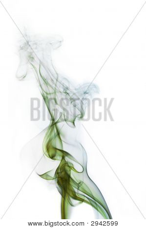 Green And Blue Cigarette Smoke