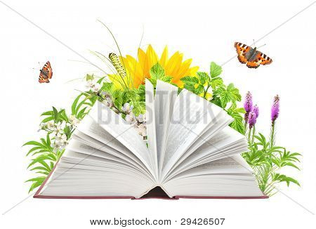 Buch der Natur. isolated over white