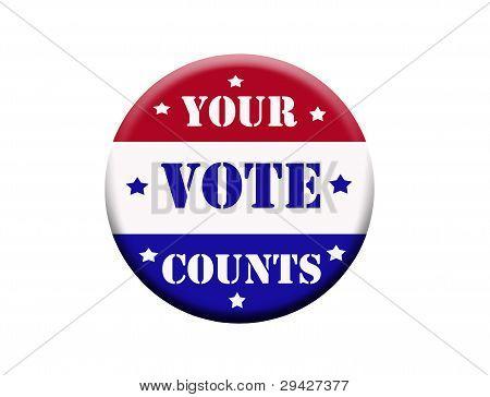 Botão de votação