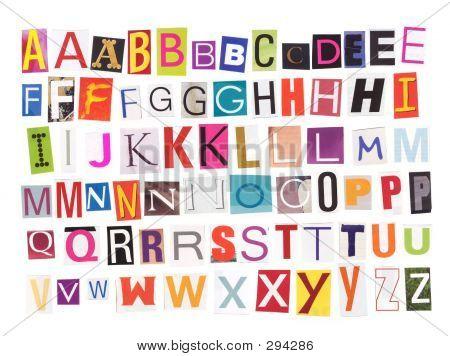 Alphabet Magazin Ausschnitte