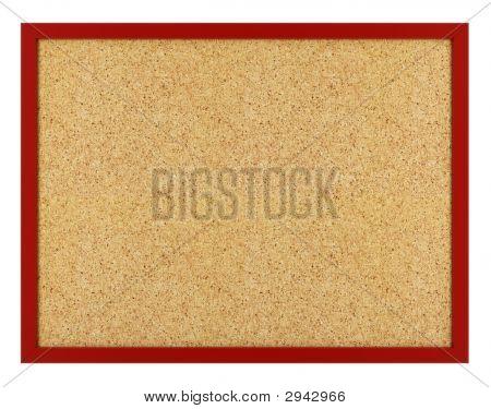 Isolated Cork Board