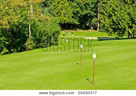golf player on a wonderful course