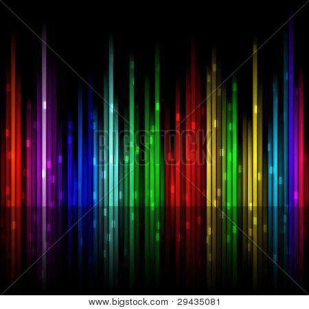 Easy to edit vector background 3: colored spectrum