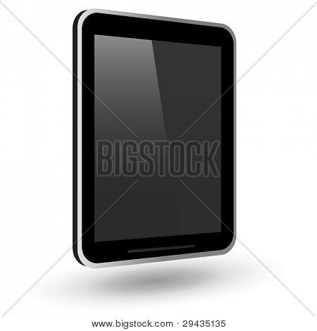 Ficticio touch tablet PC. Ilustración del vector.