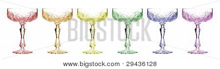 Wineglasses on white background