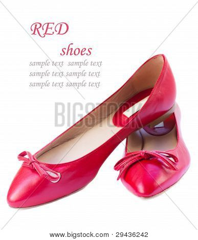 woman shoes isolated on white
