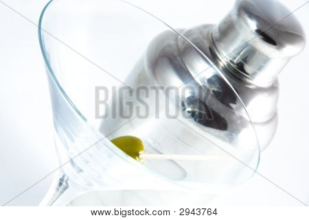 Martini Glass And Shaker