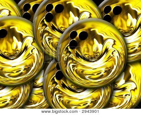 Golden Bowling Balls