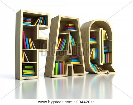 FAQ with books - search answer concept