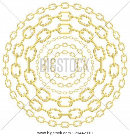 Gold circle chains