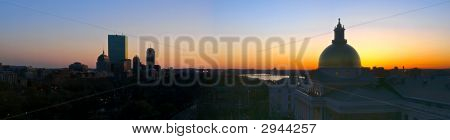Boston Sunset Panorama