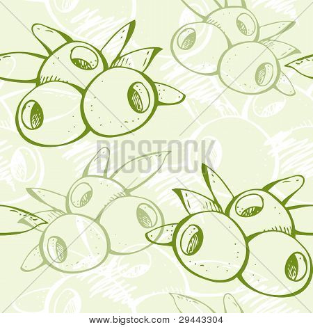 Fresh green olive pattern
