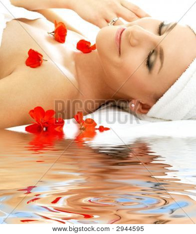 Red Petals Spa With Water #4