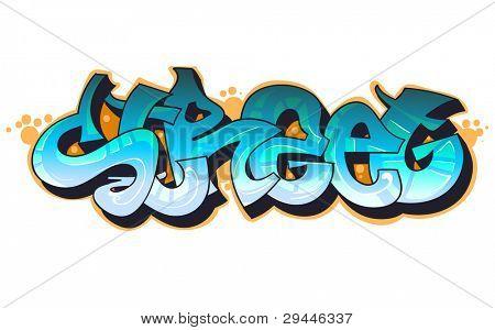 Graffiti urban art.