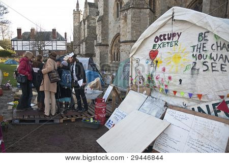 Occupy Exeter Activists Gather Before Their Direct Action Against The Exeter Branches Of Topshop, Hs