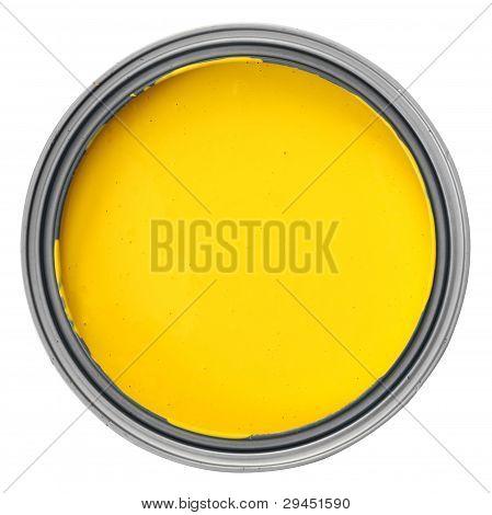 puede con pintura amarilla