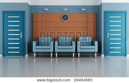 Blue Waiting Room