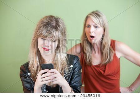 Mensajes de texto de adolescente