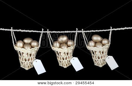Put Your Eggs in Diferrent Baskets With Copy Space