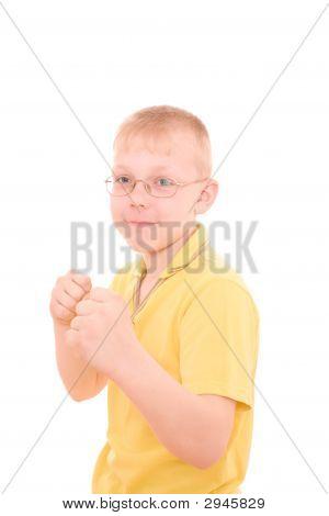 Boy Protect Himself