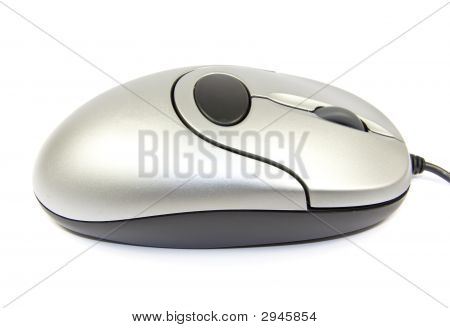 Silver Computer Mouse Isolated