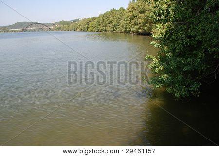 Lake Austin , Austin Texas ,Pennybacker bridge