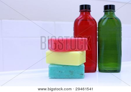 Bath soap bars and Bath oils