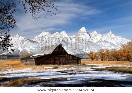 Grand Teton barn on Mormon row