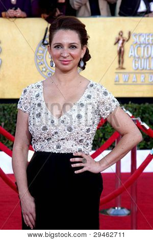 LOS ANGELES - JAN 29:  Maya Rudolph in the Press Room at the 18th Annual Screen Actors Guild Awards at Shrine Auditorium on January 29, 2012 in Los Angeles, CA